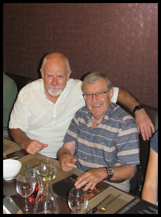 Patrick McCarthy à gauche et Roland Habersetzer.