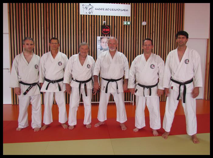 Quelques représentants du Tengu-ryu lors de ce stage.