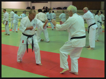Kumite kata avec Patrick JOSEPH.