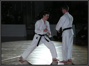 Kumite kata présenté à la nuit des arts martiaux.
