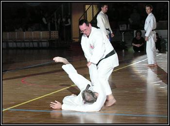 Kumite à la nuit des arts martiaux de Sélestat.