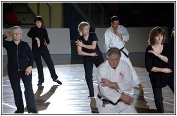 La cigogone, technique du Tai Chi Chuan.