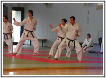 Technique de blocage, chudan uke.