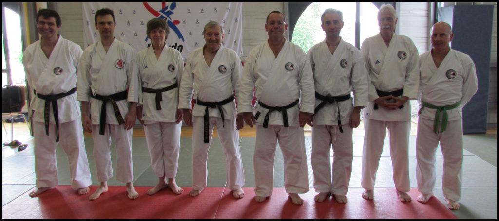 Quelques représentants de notre dojo au stage de Tengu-ryu Karaté-do.