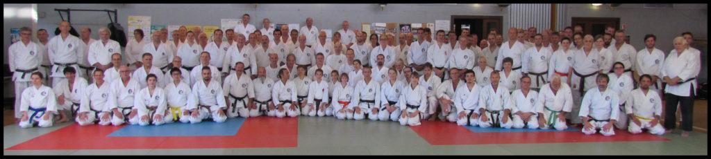 Karatékas participant au Kan Geiko 2018