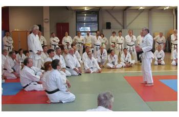 O-Sensei Roland Habersetzer expliquant inlassablement pour assimiler les concepts du Tengu-ryu