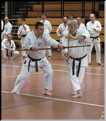 Helmut GÖTZ avec l'un de ses élèves.