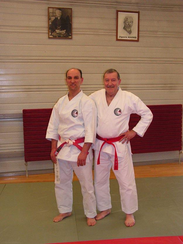 Jacques Faieff, à gauche, et Shihan Roland Habersetzer