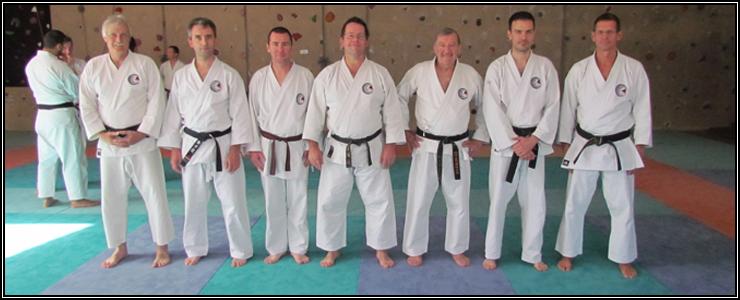 Les participants de notre dojo en compagnie de leur sensei et O-sensei Habersetzer.