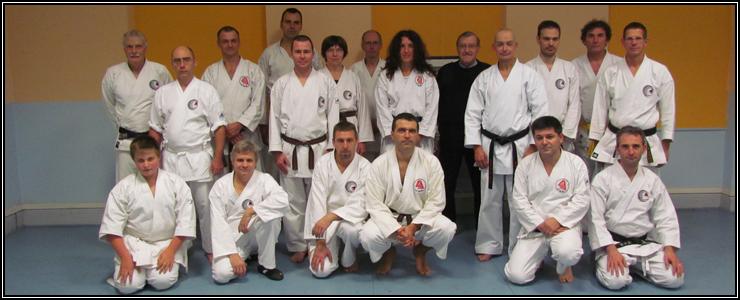 Les participants du dojo lors de la venue de sensei Pierre Portocarrero à Sélestat.