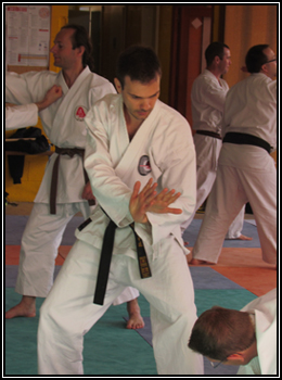Sébastien en tengu-no-kame face à Didier.