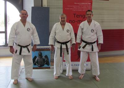 De gauche à droite, Jean-Claude BENIS, Roland HABERSETZER et Didier SIAT.